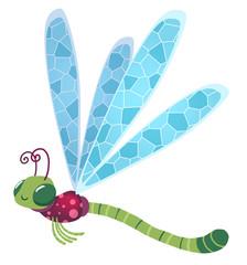 libélula volando