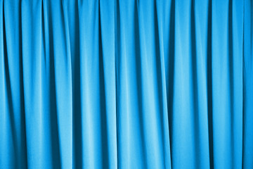 curtain cinema stage background, blue dramatic tone