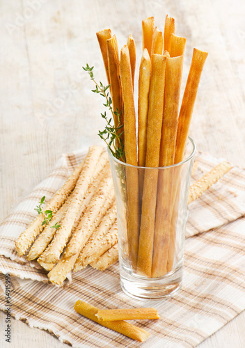 Bread sticks with herbs