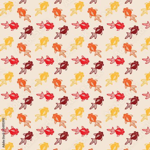 Goldfish Stamp Pattern