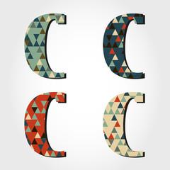 retro letter C