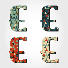 retro letter E