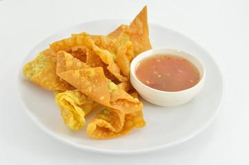 Deep fried dumpling or wonton