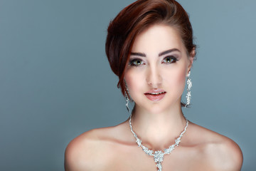 A portrait girl is in fashion style. Wedding decoration