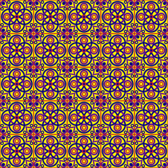 Yellow Ethnic Folk Pattern