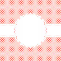 Banderole auf Punkt Muster