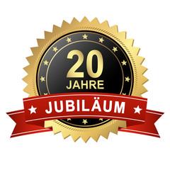 Button mit Banner - Jubiläum 20 Jahre