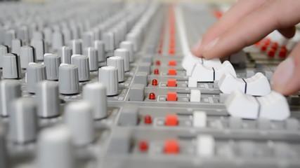 sound mixer shallow Depth of field