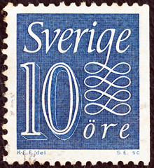10 ore stamp (Sweden 1951)