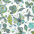 Seamless patterns with butterflies