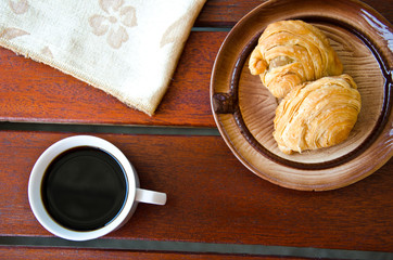 curry puff and black coffee
