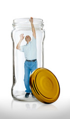 Man Escapes from a Glass Jar