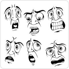 Emotions - Vinyl-ready vector illustration.