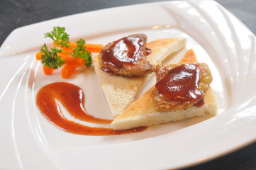 Foie gras bread