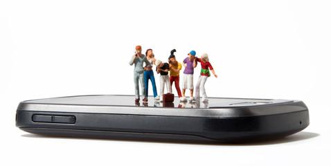 H0 Figuren auf einem Smartphone