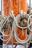 Detail of rigging on a sailboat