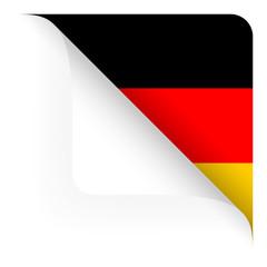 Papier - Ecke oben gerundet - Länderflagge Deutschland