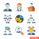 Business people Flat icons for Web and Mobile App