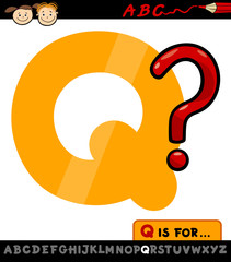letter q with question mark illustration