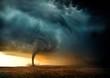 Leinwanddruck Bild - Sunset Tornado
