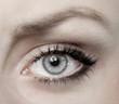 Auge in Blau