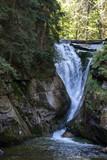 Fototapeta Nature - Szklarki Waterfall in Karkonosze Mountains © Wolszczak