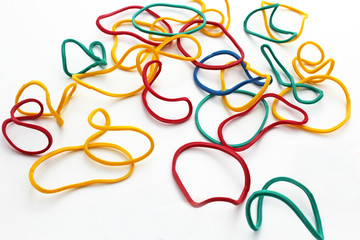 Elastiques multicolors
