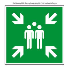 Schild Sammelplatz nach ISO