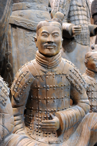 Canvas Xian famous Chinese terracotta army figures
