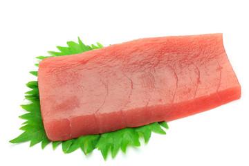 sashimi of the tuna