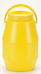 yellow plastic container