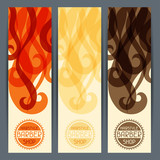Hairstyle vertical banners.