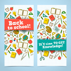 Back to school banners set