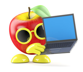 3d Apple has a laptop