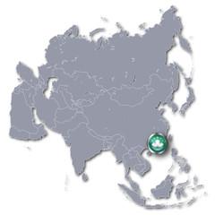 Asienkarte mit Macao