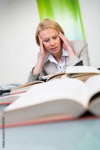 lehrerin leidet an burnout