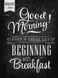 Poster Good morning! breakfast chalk - 54929154