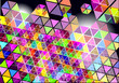 abstract vector background with colorful shapes