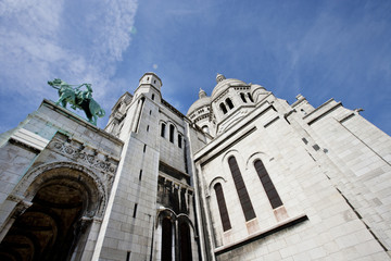 Close-up view of Sacre Coeur in Paris