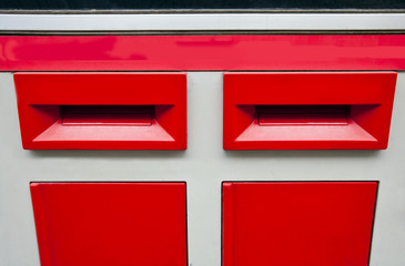 Letter boxes saying 1st and 2nd Class