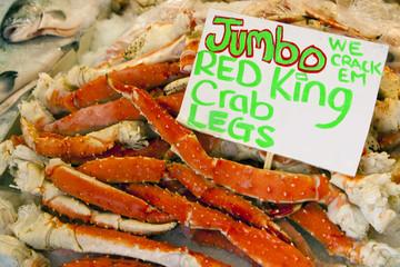 Crab Legs at fish market