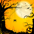 Vector Illustration of a Decorative Halloween Background