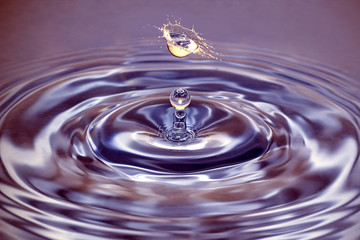 Water collision_violet