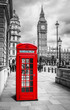canvas print picture - London Telephone Booth