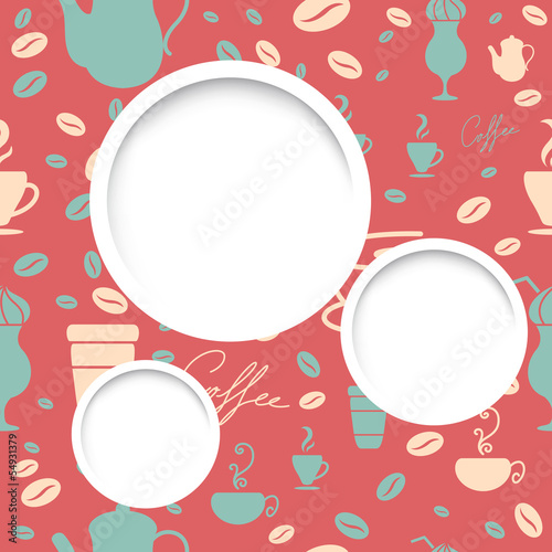 Vector Illustration of an Abstract Coffee Background