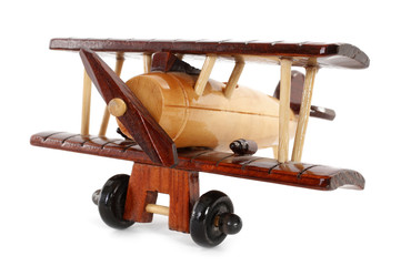 Wooden vintage plane toy