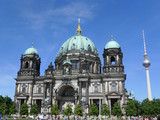 Berliner Dom On Blue Sky Berlin Cathedral