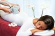 Leinwanddruck Bild - Woman having anti cellulite vibro massage.