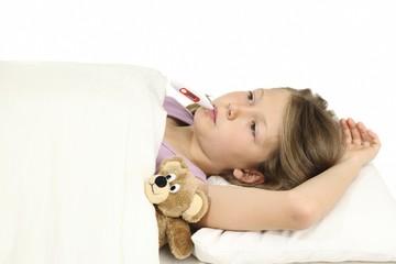 Fieber messen im Bett