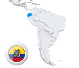 Ecuador on a map of South America